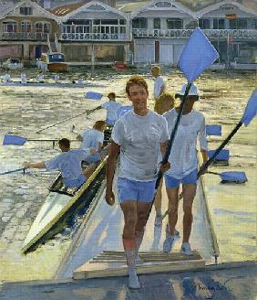 Evening Return, Henley, 1998 (oil on canvas)