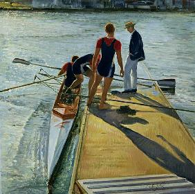 Evening Trial, Henley, 1999-2000 (oil on canvas)