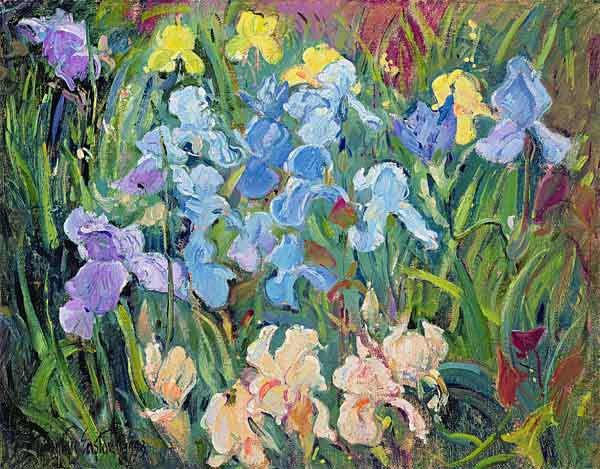 Irises: Pink, Blue and Gold, 1993