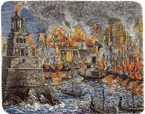 The Burning of the Library of Alexandria