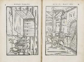 Double page spread from the De Re Militari by Vegetius