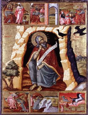 The Prophet Elijah in the Wilderness with Scenes from His Life