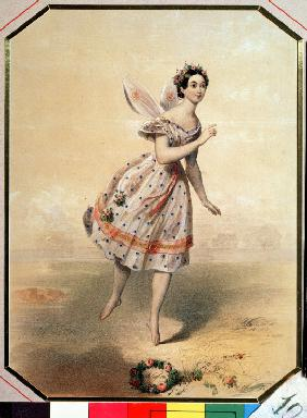 Dancer Maria Taglioni (1804-1884) in the ballet Sylphides by F. Chopin