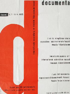 Poster for the First documenta Exhibition in 1955