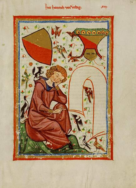 Heinrich von Veldeke (From the Codex Manesse)