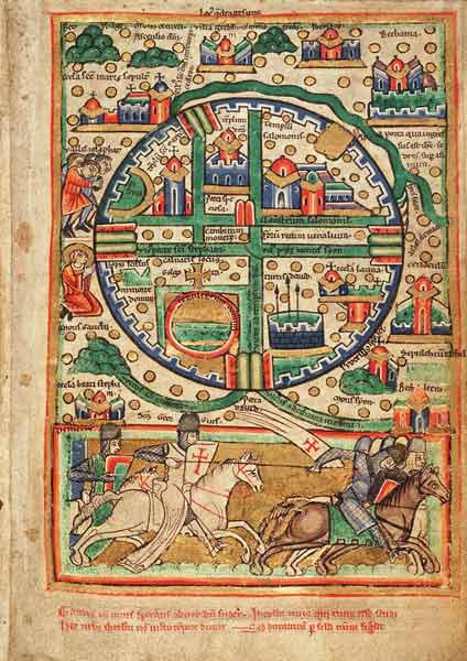 Plan of Jerusalem. Psalter fragment