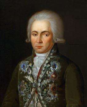 Portrait of the Poet Gavrila R. Derzhavin (1743-1816)