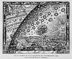 The edge of the firmament (Flammarion engraving) From L'atmosphère. Météorologie populaire by Camill