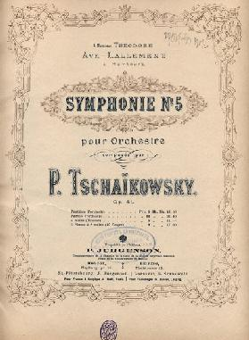 The title page of the first edition of the Fifth Symphony by Tchaikovsky