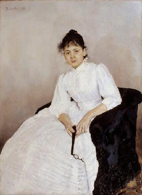 Portrait of the artist Maria Yakunchikova-Weber (1870-1902)
