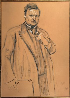 Portrait of the composer Alexander Glazunov (1865-1936)