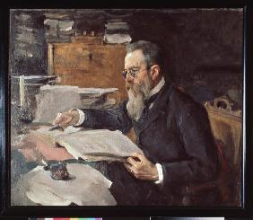 Portrait of the composer Nikolai Rimsky-Korsakov (1844-1908)