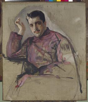 Portrait of Sergei Dyagilev (1872-1929)