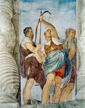 Three Archers, detail from the Martyrdom of St. Sebastian