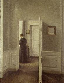 Woman in a bright interior.