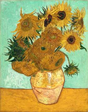 Vase with Twelve Sunflowers