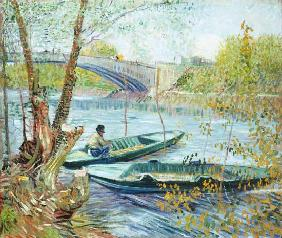 Fishing in the Spring. Pont de Clichy