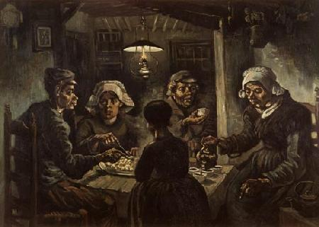 The potato eaters 1885