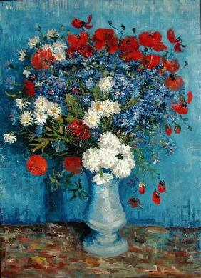 Still Life: Vase with Cornflowers and Poppies