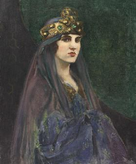 An Actress, 1890 (oil on canvas)