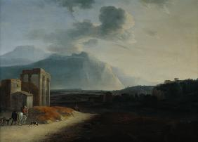 Landscape with Mount Stromboli