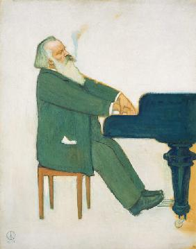 Johannes Brahms at the wing