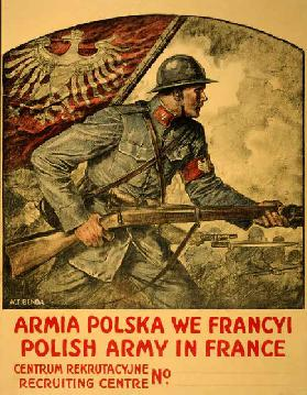 Armia Polska We Francyi, c.1917 (colour litho)