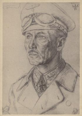 Erwin Rommel, German Second World War general (litho)