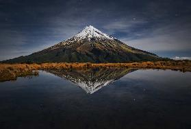 Mount Taranaki - A Starry Night