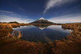 Mount Taranaki under Moonlight